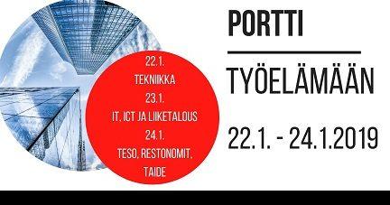 Portti työelämään TAMK:lla 23.1.2019