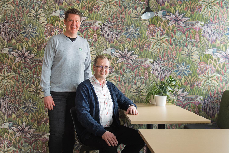 Kalle Haviala ja Ilkka Pasanen ovat iloisia siitä, että työ- ja elinkeinoministeriö valitsi Netumin jälleen EURA-järjestelmän toteuttajaksi.